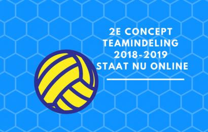 Concept teamindelingen 2018-2019