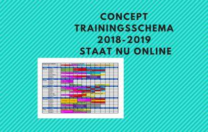 Concept trainingsschema 2018-2019