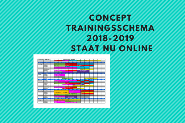 Concept trainingsschema 2018-2019